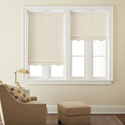 JCPenney Home™ Saratoga Cut-to-Width Fringed Blackout Roller Shade - FREE SWATCH