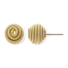 Monet® Gold-Tone Button Stud Earrings