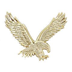 Mens 14K Yellow Gold  Large Eagle Pendant