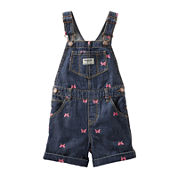 OshKosh B'gosh® Butterfly-Print Denim Shortalls - Baby Girls 3m-24m