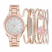 Mixit Womens Rose Goldtone 7-pc. Watch Boxed Set-Jc2011rg569-279