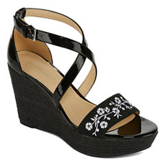 Liz Claiborne Cottom Womens Wedge