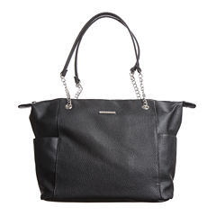 Stone And Co Talia Pebble Leather With Chain Strap Tote Bag