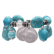 Mixit Womens Turquoise Shaky Nugget And Beaded Bracelet