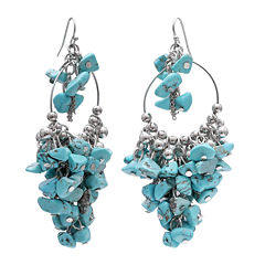 Mixit Turquoise Shaky Chip Earrings