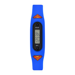 Superman Boys Pedometer Tracker Strap Watch-Sup4276jc