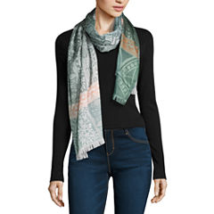 V. Fraas Oblong Patchwork Scarf