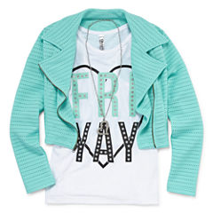Total Girl Long Sleeve Layered Top - Big Kid Girls