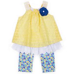 Little Lass 2-pc. Legging Set-Toddler Girls