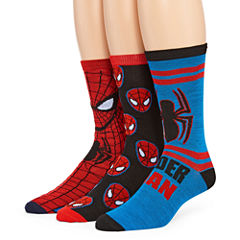 Marvel® Spiderman 3-pk. Crew Socks