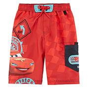 Disney Collection Cars Swim Trunks - Boys 2-10