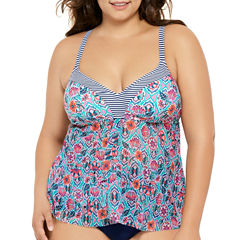 Costa Del Sol Tankini Swimsuit Top-Juniors Plus
