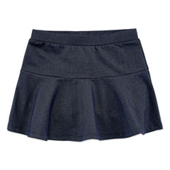 Okie Dokie Solid Knit Skorts - Preschool