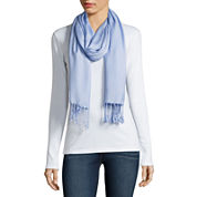 Liz Claiborne® Watercolor Solid Pashmina