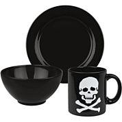 Skull 3-pc. Dinnerware Set