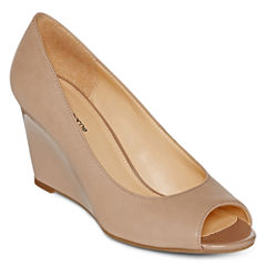 Liz Claiborne® Paula Peep-Toe Wedge Pumps