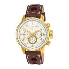 Invicta® S1 Rally Mens Dark Brown Leather Chronograph Sport Watch 16011