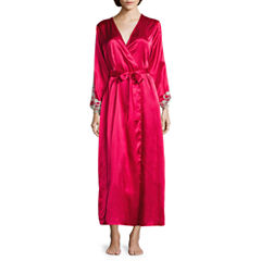 Flora By Flora Nikrooz 3/4 Sleeve Satin Robe
