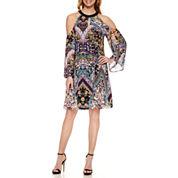 Nicole By Nicole Miller Long Sleeve Shift Dress