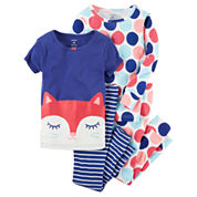 Carter's Toddler Girls 4-pc. Cotton Sleep Pant