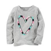 Carter's Toddler Girls Long Sleeve Heart T-Shirt