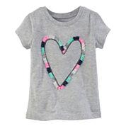 Carter's Girls Short Sleeve T-Shirt-Toddler