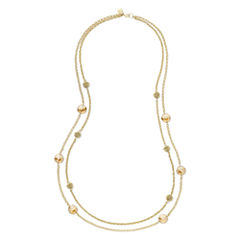 Monet® Yellow Stone Gold-Tone Station Necklace