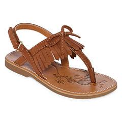 Okie Dokie Lil Calla Girls Flat Sandals - Toddler