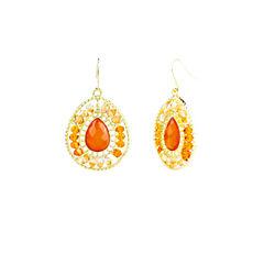 Mixit Orange Drop Earrings