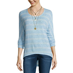 Self Esteem 3/4 Sleeve Round Neck T-Shirt-Womens Juniors