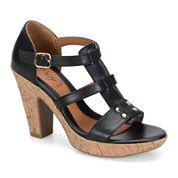 Eurosoft™ Fonda Leather Heeled Sandals