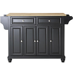 Pelham Natural Wood-Top Kitchen Island