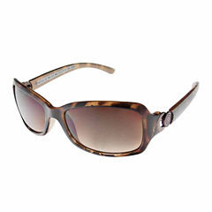 Nicole By Nicole Miller Full Frame Rectangular UV Protection Sunglasses