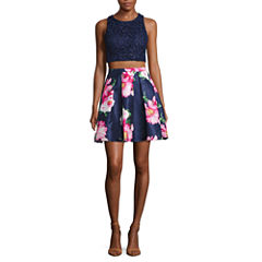 My Michelle Sleeveless Sequin Dress Set-Juniors