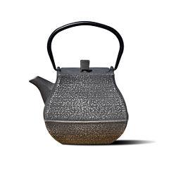 Old Dutch 44 Oz Silver and Black Cast Iron Meiyo Teapot
