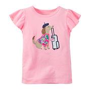 Carter's® Flutter-Sleeve Tee - Preschool Girls 4-6x