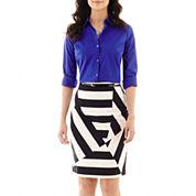 Worthington® Essential Button-Front Shirt or Sateen Skirt