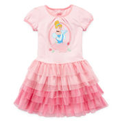 Disney Collection Cap-Sleeve Cinderella Tulle Dress - Girls 2-10