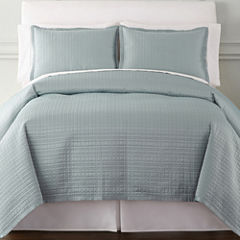 Royal Velvet® Matte Satin Square 3-pc. Coverlet Set & Accessories