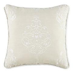 Royal Velvet® Azure Embroidered Square Decorative Pillow