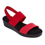 St. John's Bay® Swan Flatbed Strap Sandals - Wide Width