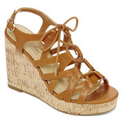 Diba® London Abbey Lace-Up Wedge Sandals