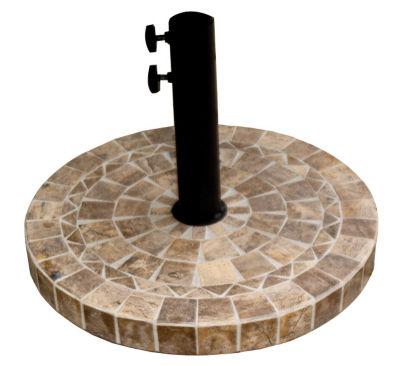 Round Brown Marble Umbrella Base
