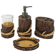 Hiend Accents Antler 4-pc. Bath Accessory Set
