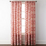 JCPenney Home™ Landry Rod-Pocket/Back-Tab Curtain Panel