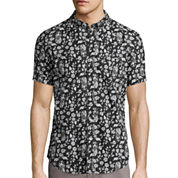Arizona Printed Short-Sleeve Poplin Shirt