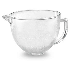 5-Qt. Tilt-Head Hammered Glass Bowl with Lid