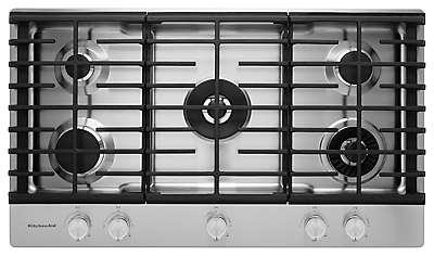 KitchenAid® 36 5-Burner Gas Cooktop with Griddle