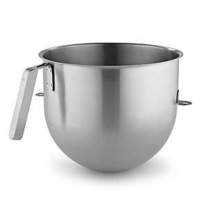 KitchenAid® 8 Quart NSF Certified Polished Stainless Steel Bowl with J Hook Handle