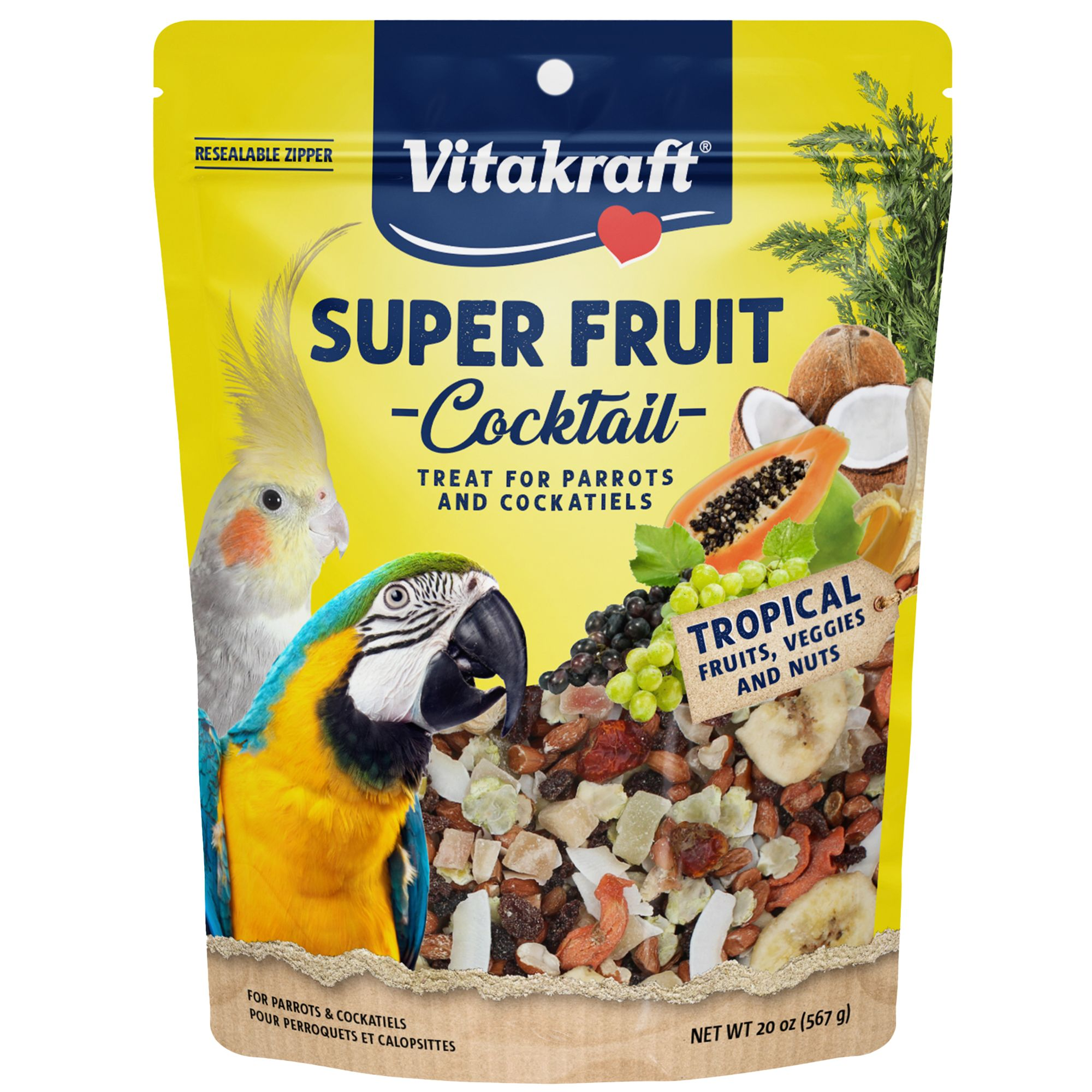 Vitakraft Fruit Cocktail Parrot and Cockatiel Treat size: 20 Oz 1441268